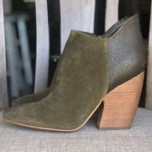 Olive green army green booties